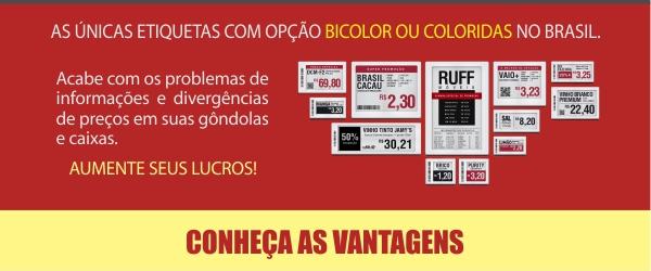 A únicas etiquetas com opção bicolor ou coloridas no Brasil